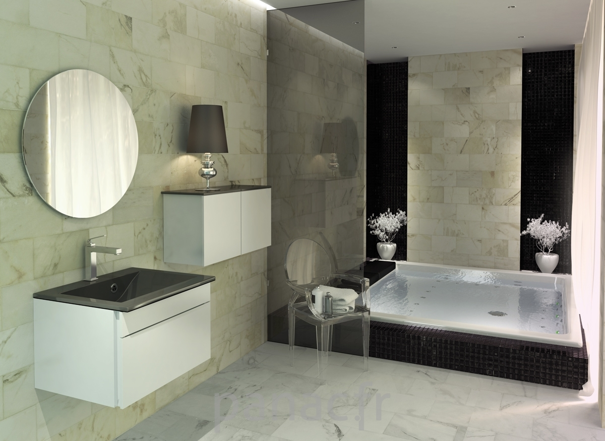 Une salle de bain contemporaine deco in for Baignoire contemporaine design