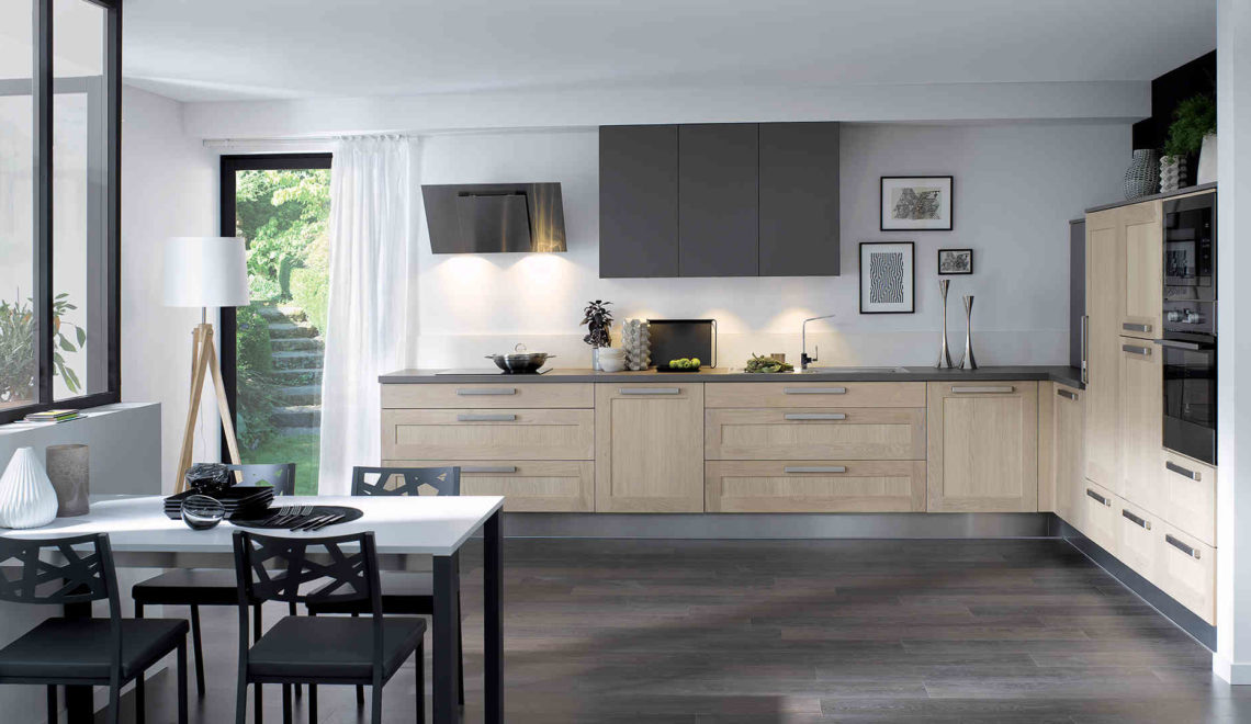 La meilleure implantation pour une cuisine deco in for Cuisine equipee gris clair