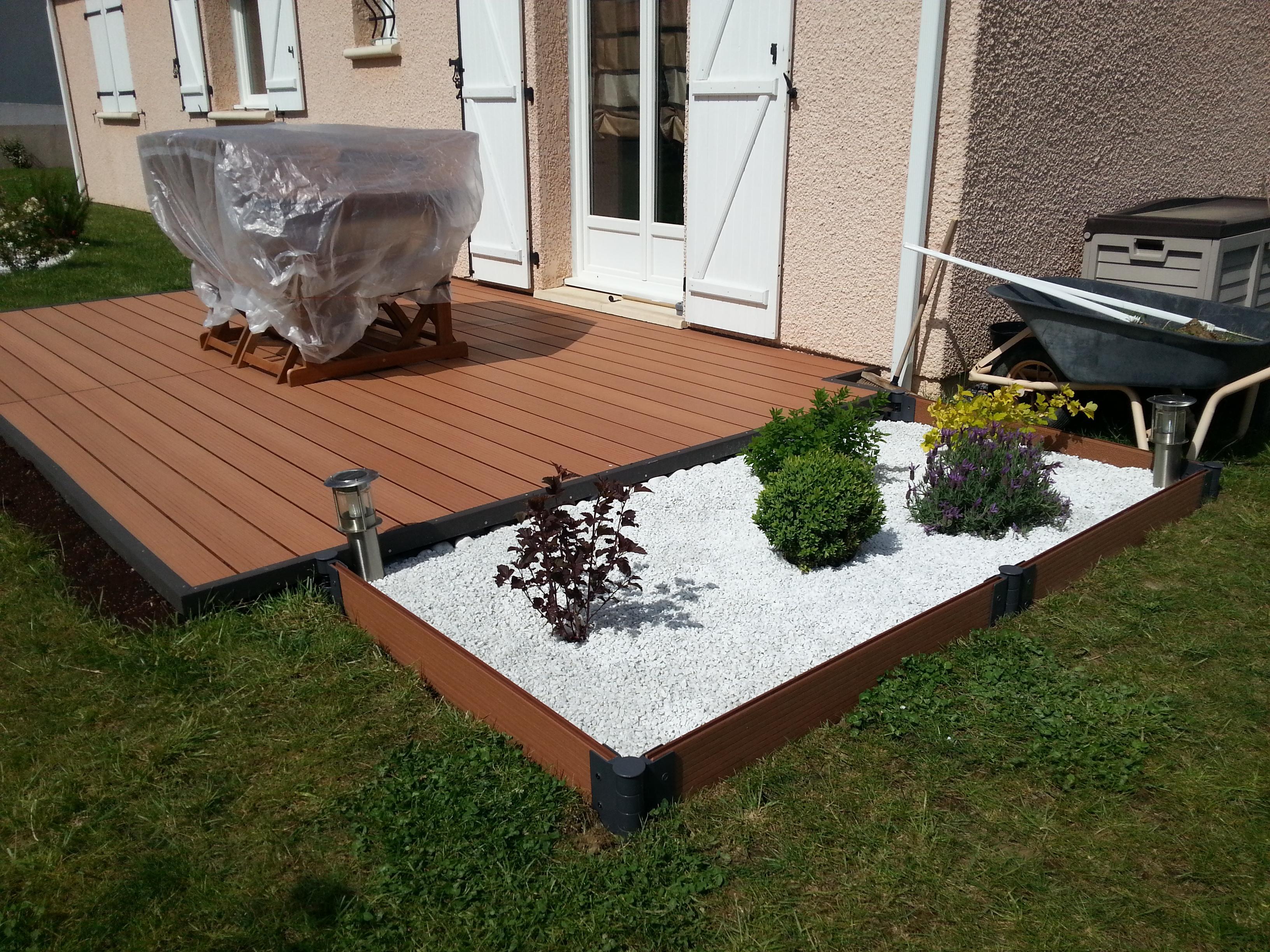Un sol parfait pour sa terrasse de jardin deco in - Lamelle composite pour terrasse ...