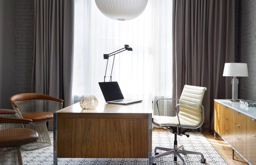 Le rideau idéal pour un bureau deco in
