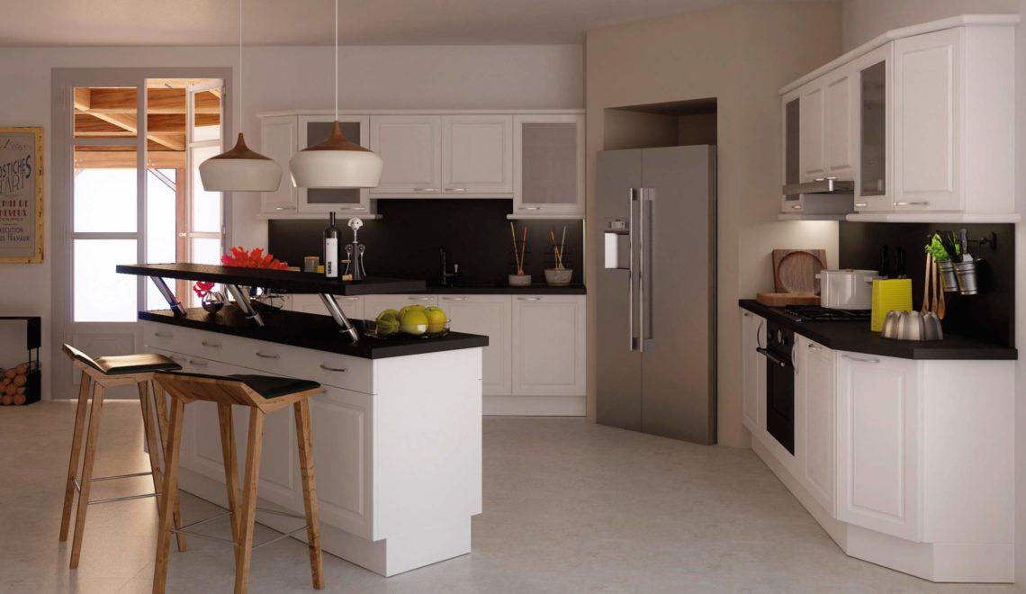 cuisine l am ricaine deco in. Black Bedroom Furniture Sets. Home Design Ideas