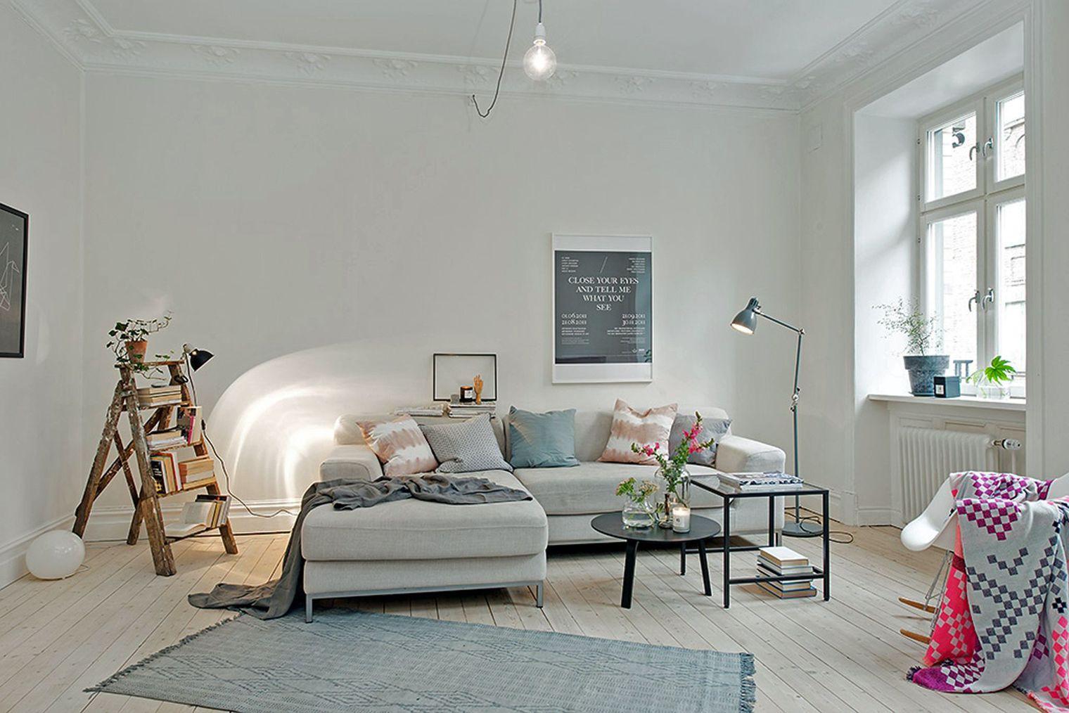 Un salon au d cor nordique deco in Salon deco design